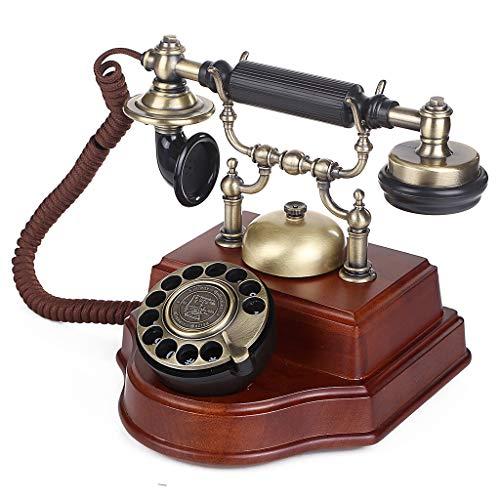 ZARTPMO Teléfono Fijo Fijo Teléfono Fijo: Teléfono Retro para El Hogar, Operación Giratoria Cable Fijo Antiguo Antiguo Teléfono Fijo