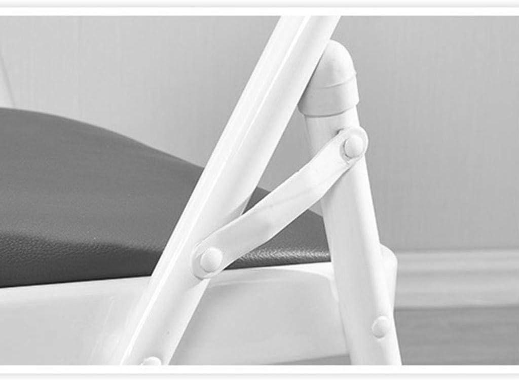 GQQ Chaise de Bureau, Chaise Pliante À La Maison Conférence D'Ordinateur Et Tabouret Simple de Dortoir (47 * 45 * 88Cm) Chaise Pliante,C E