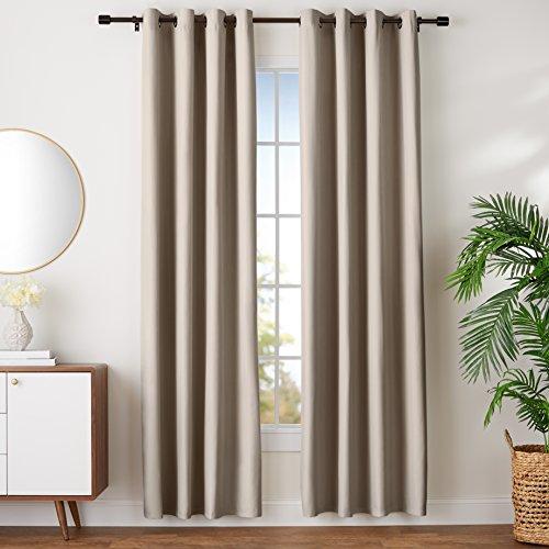 Amazon Basics Room Darkening Blackout Window Curtains with Grommets - 52' x...