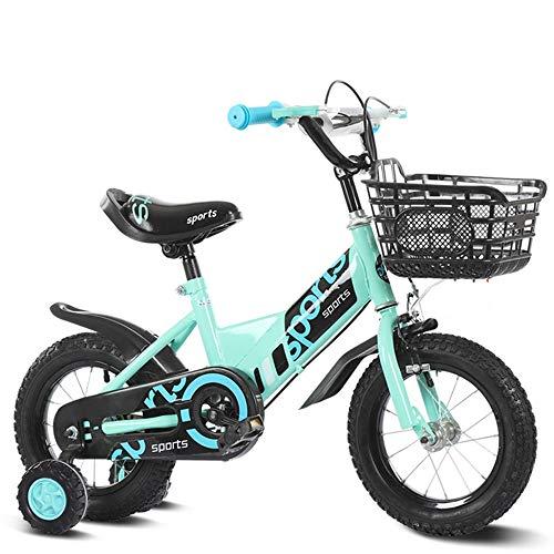 Axdwfd Kids Bike Kinderen Kinderen Fiets 12 14 16 18 20 Inch, Fietsen Jongens Meisjes Hoge Koolstofstaal Frame,Peuter Fiets met Training Wielen, voor 2-15 Jaar Oud 33