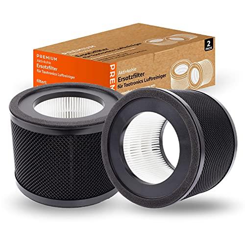2x Filtro per Taotronics TT- AP001 Purificatore d'aria pulizia rapida per ufficio camera da letto soggiorno purificatore d'aria antibatterico antiallergia adatto HEPAs
