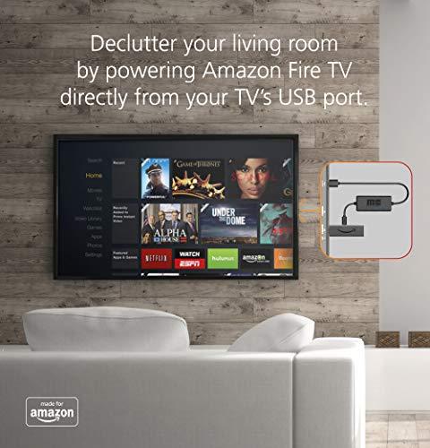 Mission USB Stromkabel - Ladekabel - Power Kabel für Amazon Fire TV Stick mit erweiterten Batterie-Management und integriertem 2000mAh Lithium-Ionen-Akku - Schwarz - MC45