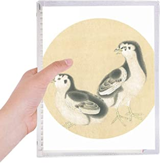 Chicks for Feeding Figure Chinese Painting Notebook Loose Leaf Diary Refillable Journal Stationery