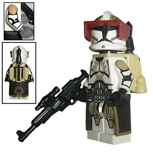 Custom Brick Design 87th Star Corps Legion Jetpack Clone Trooper V.2 Figur - modifizierte Minifigur des bekannten Klemmbausteinherstellers und somit voll kompatibel zu Lego