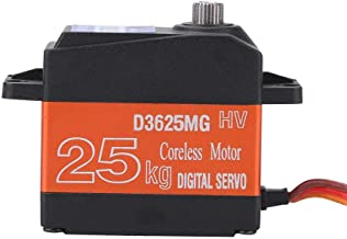 Drfeify 25kg Servo Digital Gears Impermeable Metal para 1/10 1/8 Coche RC Truck