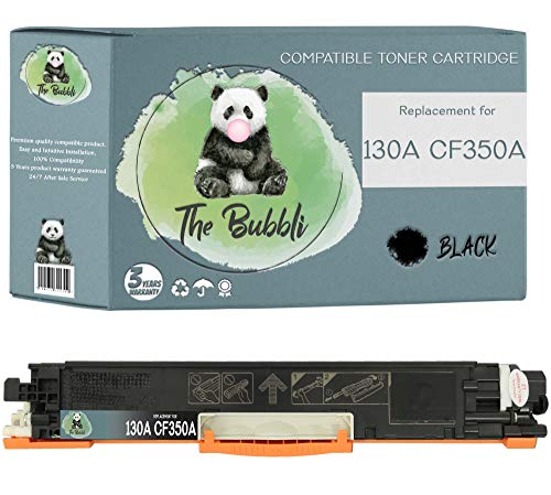The Bubbli Original | 130A CF350A Tóner Compatible para HP Color Laserjet Pro MFP M177fw M176n (Negro)