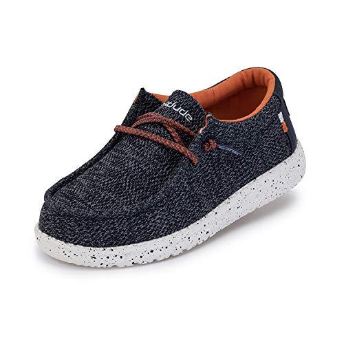 Hey Dude Wally Jungen Schuhe – Leichter Komfort – Kinderschuhe – Mokassin-Stil – Ergonomische Memory Foam Innensohle – Entworfen in Italien und Kalifornien, Blau - Sox Ocean Blue - Größe: 39 1/3 EU