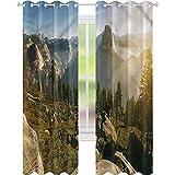 Cortina de ventana Yosemite con domo de mañana, 42 x 84, para oscurecimiento de habitación, para sala de estar