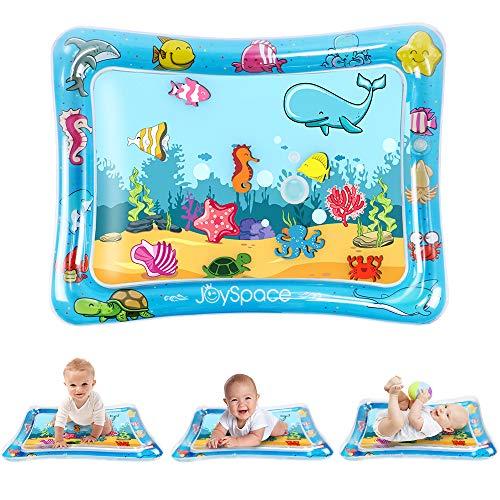 JOYSPACE Tappetino Gonfiabile per Neonati Tappeto Acqua per Bambini Tappetini per Neonati Tappetino Tummy Time Gonfiabile in PVC a Prova d'acqua per Bambini e Neonati (75 * 60 cm)