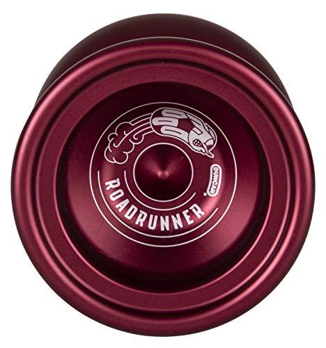 Duncan Toys Roadrunner Yo-Yo, Unresponsive Expert Level Yo-Yo, Concave Bearing and Aluminum Body, Red
