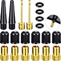 20-Piece Bicycle Valve Adapter and Air Ball Pump Inflator Kit, Bike Valve Converter Plastic Air Caps Rubber Ring for Bikes Tire Inflate Standard Pump Air Pump Compressor