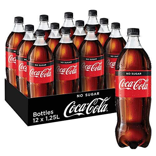Coca-Cola No Sugar Soft Drink, 12 x 1.25 l