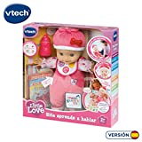Vtech - Muñeca interactiva, Little Love, rita aprende a hablar (3480-153922)