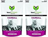 VetriScience Laboratories Hairball Digestive Support for Cats, Chicken Liver Flavored, 60 Bite Sized (2 Pack)