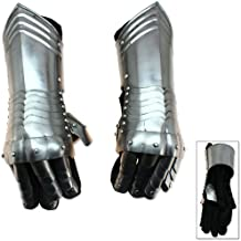 Medieval Knightly Gauntlets Carbon Steel Scale Armor 6-Point Wrist Flex