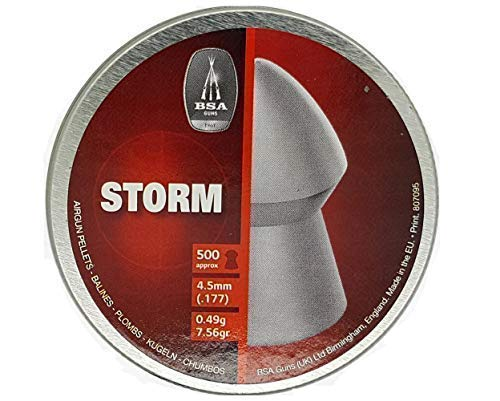 BSA - Can of 500 Storm pointed pellets - 177/4.5mm