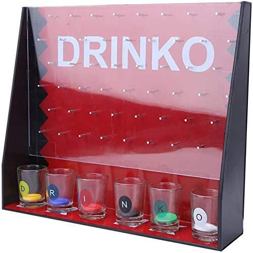 ShenMiDeTieChui Entretenimiento Partido Beber Juego Game Funny Shot Glass Farty Juego para Grupos cayendo Chips Bar Shot Juego con 6 Copas de Vino (Color : A)