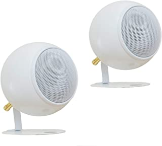 Orb Audio: Mod1 Round Stereo & TV Speakers - Two Pack - Compact Stereo Speakers - True Audiophile Reproduction - Easy to H...