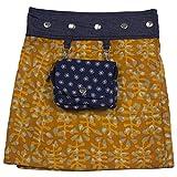 Sunsa Mädchen Rock Jeansrock Minirock Wickelrock,kurzer Sommerrock,2 Kinder Röcke in einem, Wenderock, Größe ist verstellbar, Mädchenrock aus Jeans, Klamotten Geschenke Coole Sachen 15717