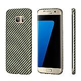「PITAKA」Samsung Galaxy S7 Edge 対応 ケース ブランド 軍用アラミド ファイバー 防弾チョッキ素材 0.65mm極薄 ミニマリスト個性的 ギャラクシーS7 Edge対応保護カバー (黒黄ツイル柄)