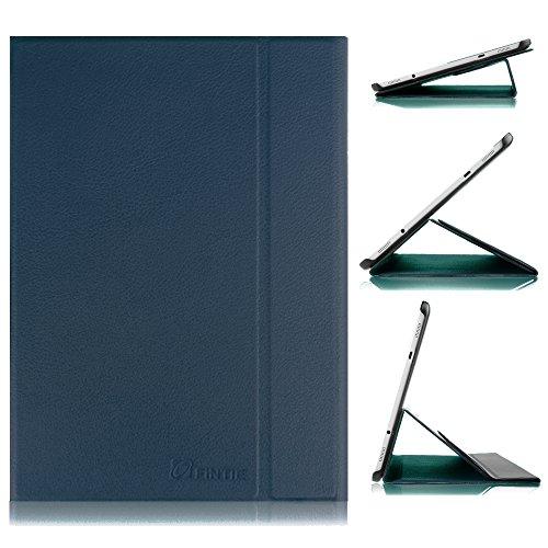 FINTIE Custodia per Samsung Galaxy Tab S2 9.7 - Slim Folio in Pelle PU Ultra Sottile Leggera Case Cover con Funzione Auto Sonno/Veglia per Samsung Galaxy Tab S2 9.7' (9.7 Pollici) Tablet, Blu Scuro