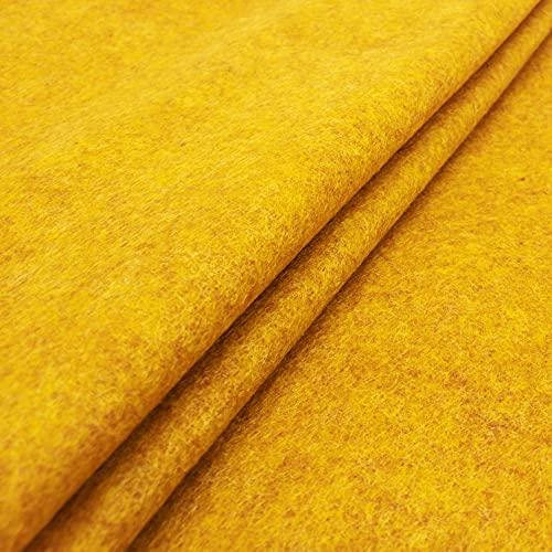 Frankinelli Tessuti Pannolenci Colorato Qualità Italiana 90 x 33 (Ocra Melange)