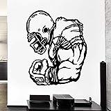 56X61Cm Décalcomanie Athlète Jeu De Sport Joueur De Rugby Vinyle Stickers Muraux Décor À La Maison Salon