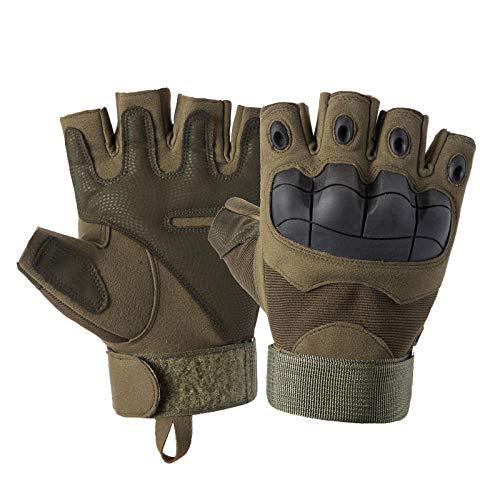 NIDAYEDE_Outdoor Sports Gloves Black Hawk Sports Randonnée en Plein air Alpinisme Gants Wearable @Army Green_M
