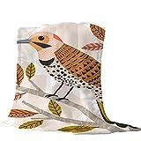 Mantas para Pájaro de Arte Abstracto Mantas para Sofá Tacto Suave y cálido, Alivio del estrés, Que Tiene una flexibilidad Extremadamente Alta. 150 * 200cm