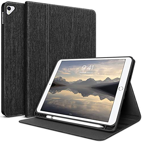 HOLIMET New iPad 10.2/10.5 Case for 2020 iPad 8th Generation Case/iPad 7th Gen Case 2019 / iPad Air 3 Case with Built in Pencil Holder,Soft TPU with Hard Back Protective Shell,Black