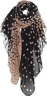 Wiwsi Fashion Women Girls Dot Yarn Scarves Scarves Shawls Wrap Shawls Black&Pink