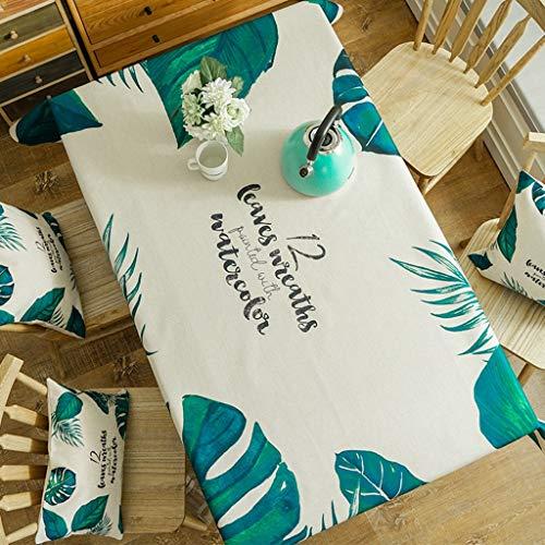 Nappe Imperméable Nappe Rectangle en Lin par Motif Imprimé Dust-Cover Table Cover Lavable nappe Dîner Cuisine Home Decor (taille : 130 * 180cm)