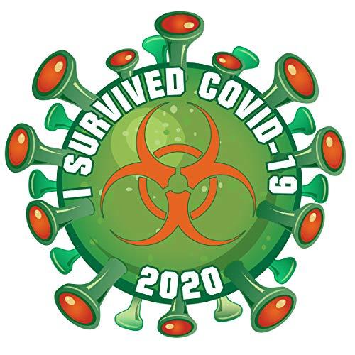 4' Vinyl Decal/Sticker - Coronavirus Pandemic Biohazard Virus Survivor - COVID-19 2020