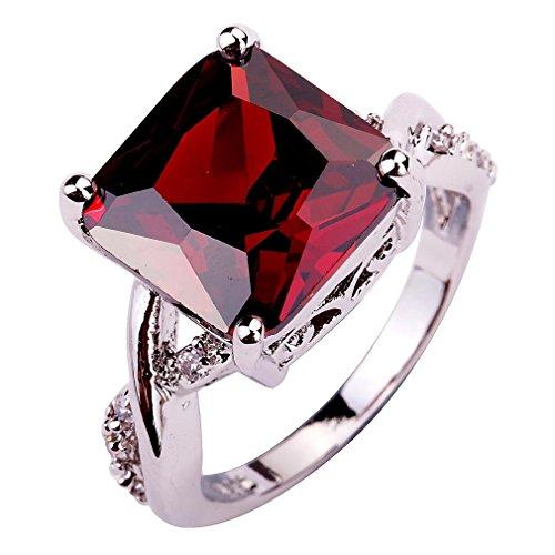 YAZILIND CZ Ring Stone Wedding Band Stainless Steel Bridal Rhinestone Jewelry for Women Size10