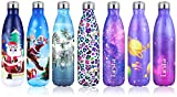 Grsta Botella Agua, 750ml Botella Agua Acero Inoxidable sin BPA Pared Completa Botellas de Frío/Cali...