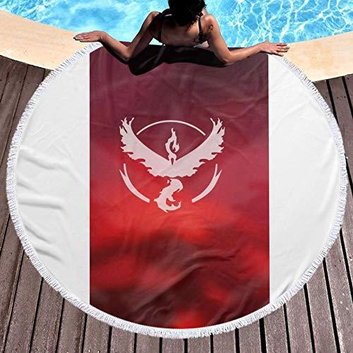 Po-ke-mon Go - Toalla de playa redonda de microfibra para hombres y mujeres, toalla redonda de baño de gran tamaño, toalla redonda de secado rápido para viajar, nadar o acampar
