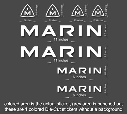 Premium Quality Marin Bike Decals Stickers mountain bike road frame mtb