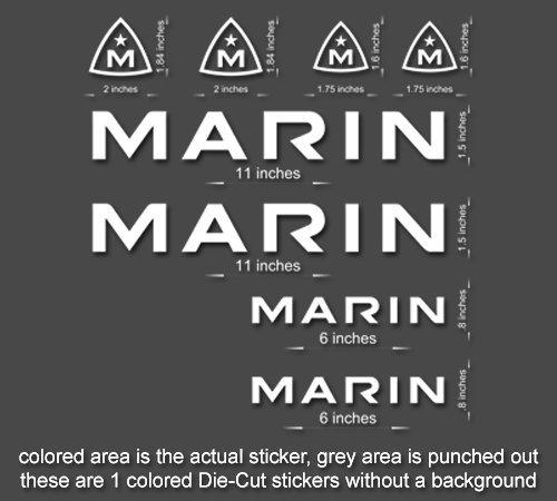 Marin Road, Mountain, Downhill Bike sticker/decal laptop, helmet, bicycle, car (Orange)
