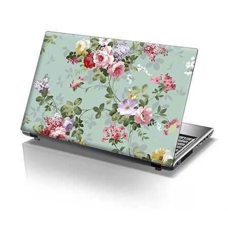TaylorHe Folie Sticker Skin Vinyl Aufkleber mit bunten Mustern für 15 Zoll 15,6 Zoll (38cm x 25,5cm) Laptop Skin bunten Blumen