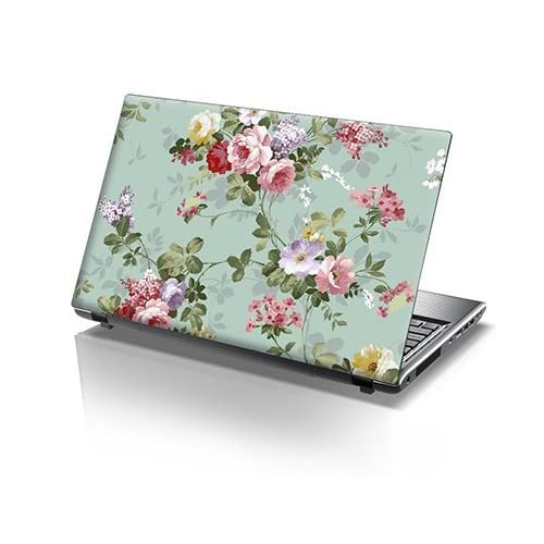 TaylorHe 15.6 inch 15 inch Laptop Skin Vinyl Decal with Colorful Patterns and Leather Effect Laminate