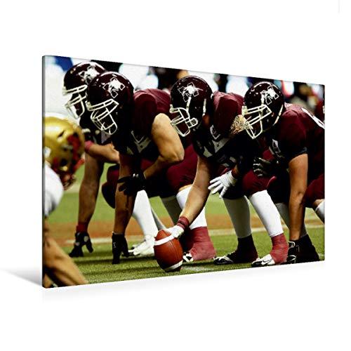 Premium - Lienzo de lienzo (120 cm x 80 cm, horizontal, línea abierta), imagen sobre lienzo auténtico, impresión sobre lienzo: mundo de la Copa del American Football (CALVENDO Sport);Calvendo Sport