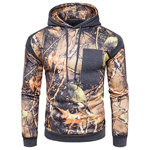 PPPPA Mens 3D Printed Hoodies Comfy Zip Up Hoody Casual Winter Jacket Coats Breathable Hooded Sweatshirt Outwear Mens Pullover Sweater Jumpers Hood Tops Patchwork Running Jacket Tracksuit Dark Gray