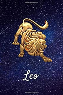 "Leo: Celestial Astrology Horoscope Zodiac Sign Blank Lined Notebook/Journal (6"" X 9"")"