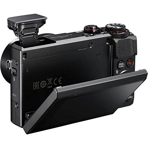 Canon PowerShot G7X Mark II Digital Camera, Video Creator Kit with Tripod, Memory Card, and Detachable Bluetooth Remote, Black, small (1066C029)