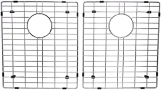 Starstar 50/50 Double Bowl Kitchen Sink Bottom Two Grids, Stainless Steel, 15