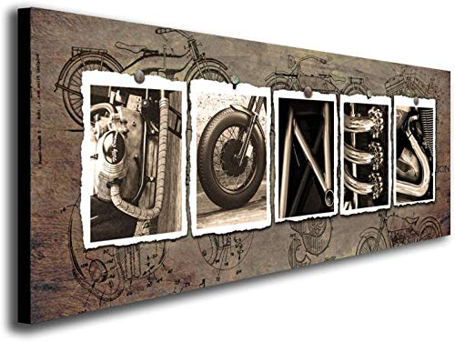 Product Image of the Personalized Motorcycle Name Art - Harley and others (9.5'x26' Block Mount -...