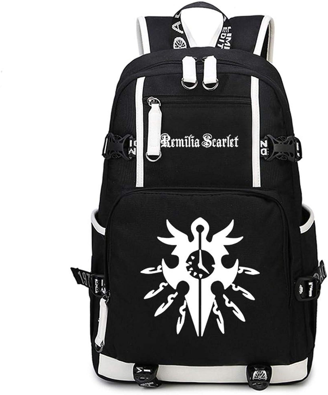 Gumstyle Touhou Project Anime School Bag Backpack Shoulder Laptop Bags for Boys Girls Students Black 5