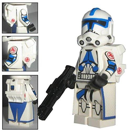 Custom Brick Design 501st Legion Clone Trooper Sanitäter Kix Figur - modifizierte Minifigur des bekannten Klemmbausteinherstellers und somit voll kompatibel zu Lego