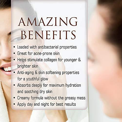 4 Oz. Age Defense Face Cream, With Vitamin C Ester + Aloe Vera + Goat Milk. Natural Facial Moisturizer, Anti-aging Face Moisturizer Cream, Natural Face Cream. pH Balanced Formula (Coconut Milk)
