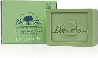 Dr. Tree Uso Frecuente 2 en 1 - Champú Sólido + Acondicionador Ecológico, Hidrata y Rejuvenece, Todo tipo de Cabellos, Champú sin SLS, 1 Pastilla = 900ml, 99% Ingredientes Naturales ECOCERT